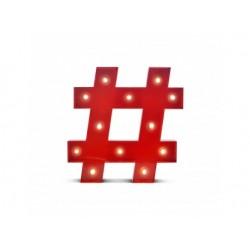 Luz/Lámpara de Metal Decorativa Circus Hashtag
