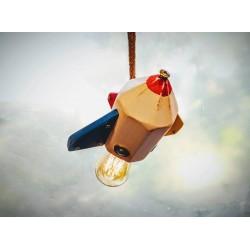 Lampara/ Velaor Artesanal Colgante Cohete