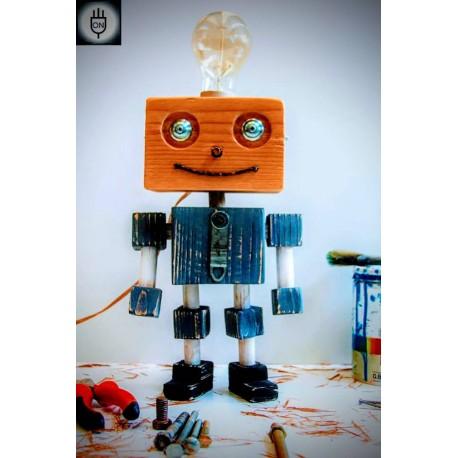 Lampara/ Velador Artesanal Papa Robot