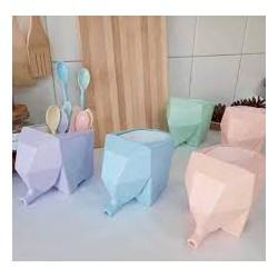 Escurridor de Cubiertos Elefantito Colores Pastel