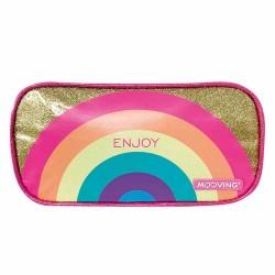 Cartuchera Estuche con bolsillo Golden Rainbow