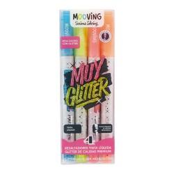 Resaltadores Glitter x4