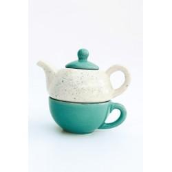Taza y Tetera Tea For One de Cerámica Artesanal