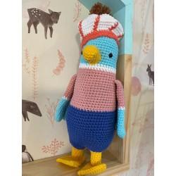 Muñeco Amigurumi Crochet Pato con Boina