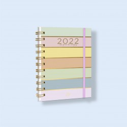Agenda 2022 Día x Día Rainbow Gold