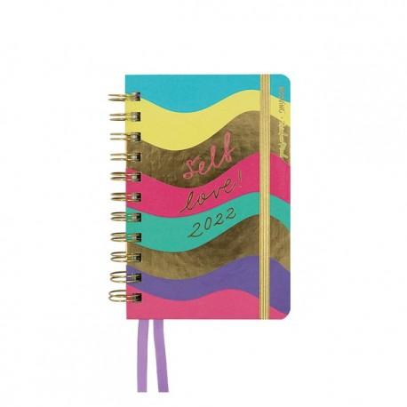 Agenda 2022 2 Días por Página 10 x 15 Mooving Rainbow Mood Self Love
