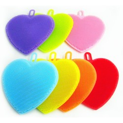 Esponja de Silicona con Formas (Corazón, Estrella)
