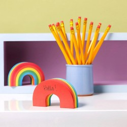 Anotador Mini Block Rainbow Notes