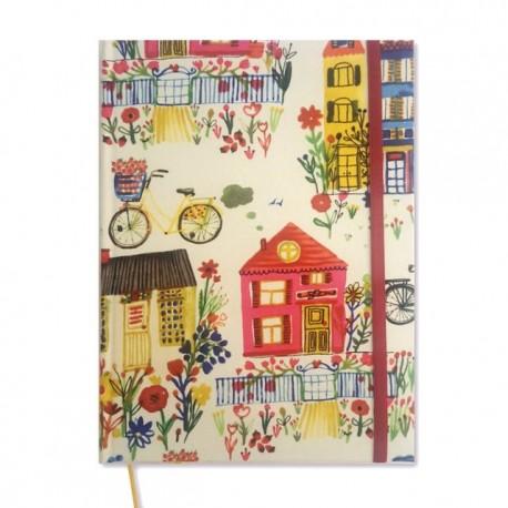 Cuaderno Forrado en Tela Cosido Artesanal