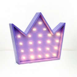 Luz/Lámpara Decorativa de Madera con Formas Corona