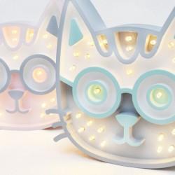 Luz/Lámpara Decorativa de Madera con Formas Gatito