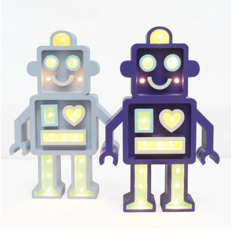 Luz/Lámpara Decorativa de Madera con Formas Robot