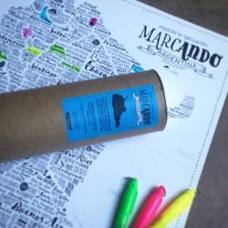 Lámina Mapa de Argentina MarcAndo para Intervenir