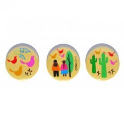 Pin con Diseños de Autor Almandina Pack x 3