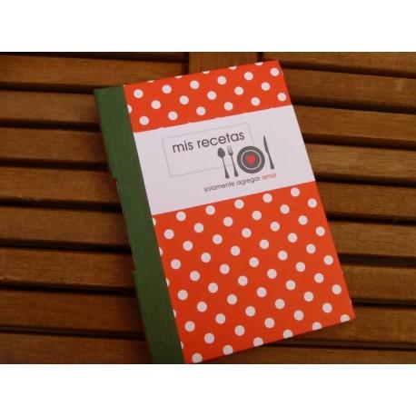 Cuaderno Recetario Artesanal