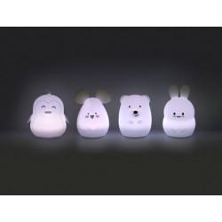Lampara/Luz Conejo/Pinguino/Oso/Raton/Hipopotamo de Silicona Grande con Bateria