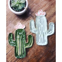 Plato/Bandeja Cactus de Cerámica Hecho a Mano