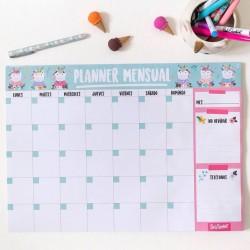 Anotador/Organizador/Planificador Block de Hojas Imantado Mensual