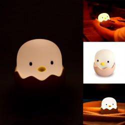Lampara/Luz Pollito con Huevo de Silicona con Bateria