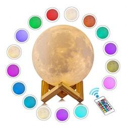 Luz/Lámpara Luna Multicolor con Control Remoto
