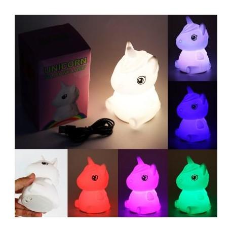 Lampara/Luz Unicornio de Silicona con Bateria