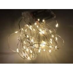 Guirnalda Luminosa Luces de Arroz x 50 luces a pila