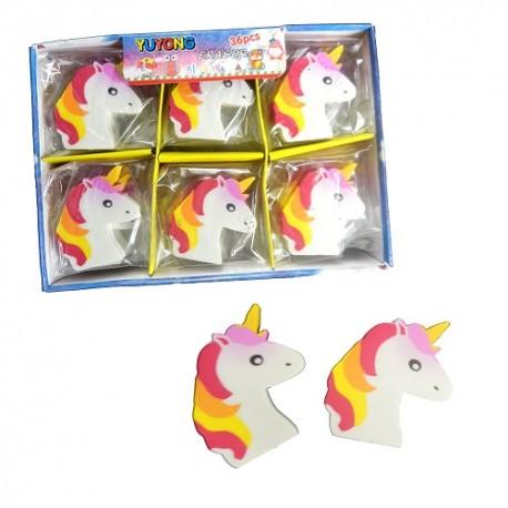 Goma de Borrar Plana Unicornio x 1