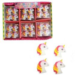 Goma de Borrar Plana Unicornio x 4