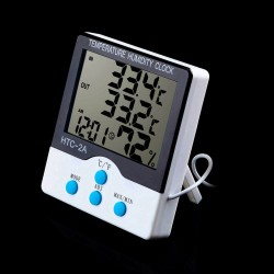 Reloj Digital con Termómetro e Higrómetro