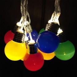 Guirnalda de Luces Foquitos Multicolor x 10 a Pilas