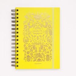 Cuaderno de Inspiración Monoblock A5 Tapa Dura Anillado Make It Happen