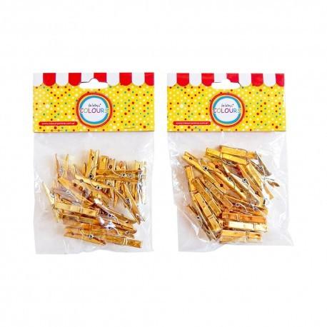 Broches Mini Dorados Pack x 24