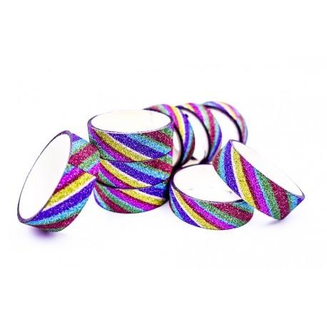 Cinta Adhesiva Multicolor con Brillo