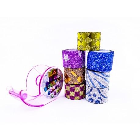 Cinta Adhesiva Mini con Dispenser Pack x 7