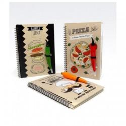 Cuaderno Recetario con Lapicera