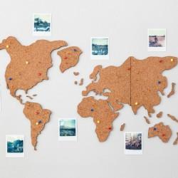 Lámina Mapamundi Mi Mundo en Corcho