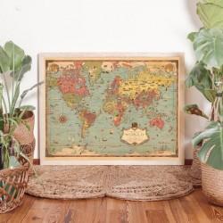 Lámina Mapamundi Mercator