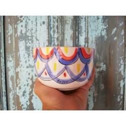 Bowl Cerealero de Cerámica Pintada a Mano Línea Colores