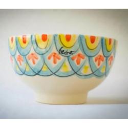 Bowl Ensaladera Grande 22 cm. de Cerámica Pintada a Mano Línea Colores