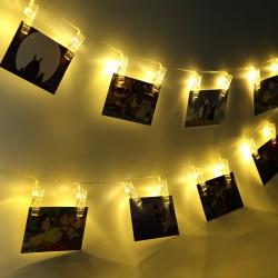 Guirnalda Luminosa Led con Broches x 10