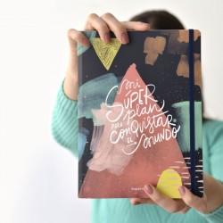 Cuaderno/Bitácora Happymess Mi Super Plan por Vik Arrieta
