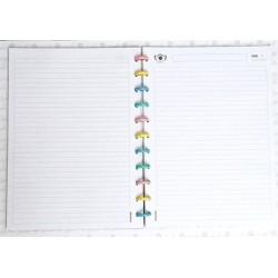Repuesto Booki A4 Cuadriculado/Rayado/Liso x 30 Hojas