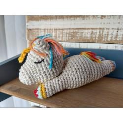 Muñeco Amigurumi Unicornio Dormilón