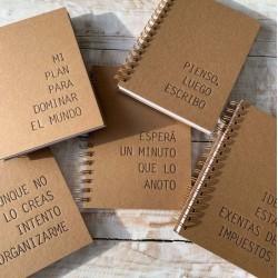 Cuaderno Letterpress Línea Frases A5