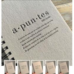 Cuaderno Letterpress Diccionario Bodoni A5