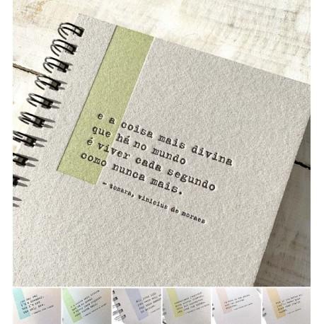 Cuaderno Letterpress Canciones A5