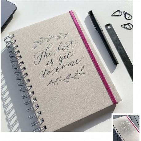 Cuaderno Letterpress Hand Lettering sin Elástico A5