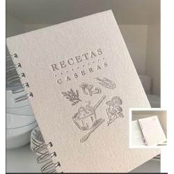 Cuaderno Letterpress Recetas A5