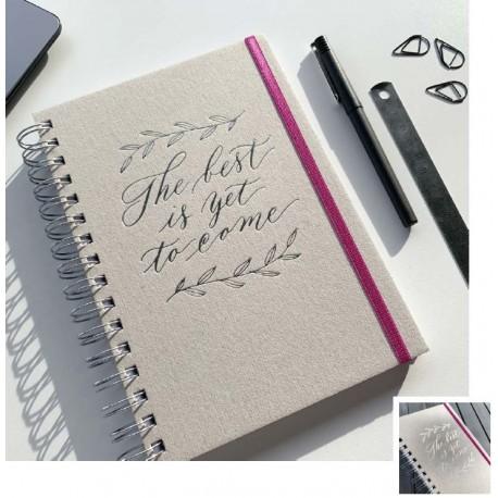 Cuaderno Letterpress Hand Lettering con Elástico A5