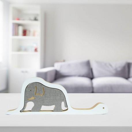 Objeto de Madera Boa y Elefante